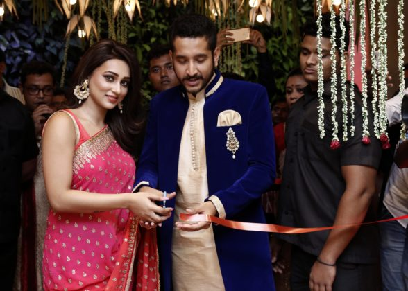 Mimi and Parambrata inaugurating the store