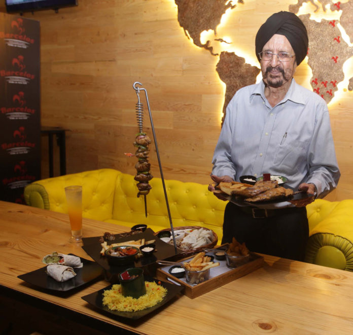 Former Hockey Player Gurbux Singh At Barcelos Launch