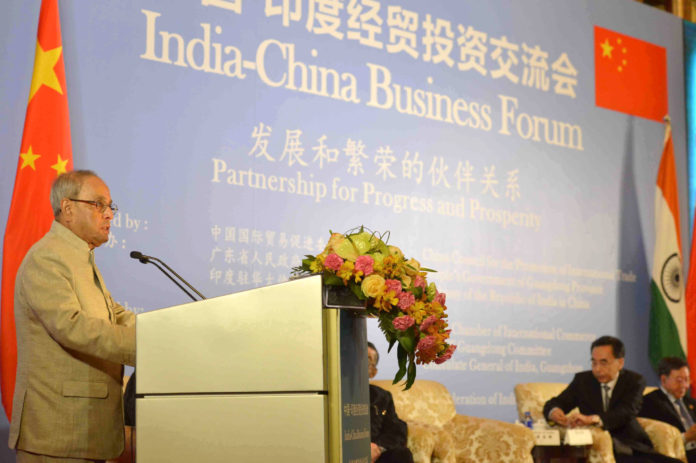 President Pranab Mukherjee - At China