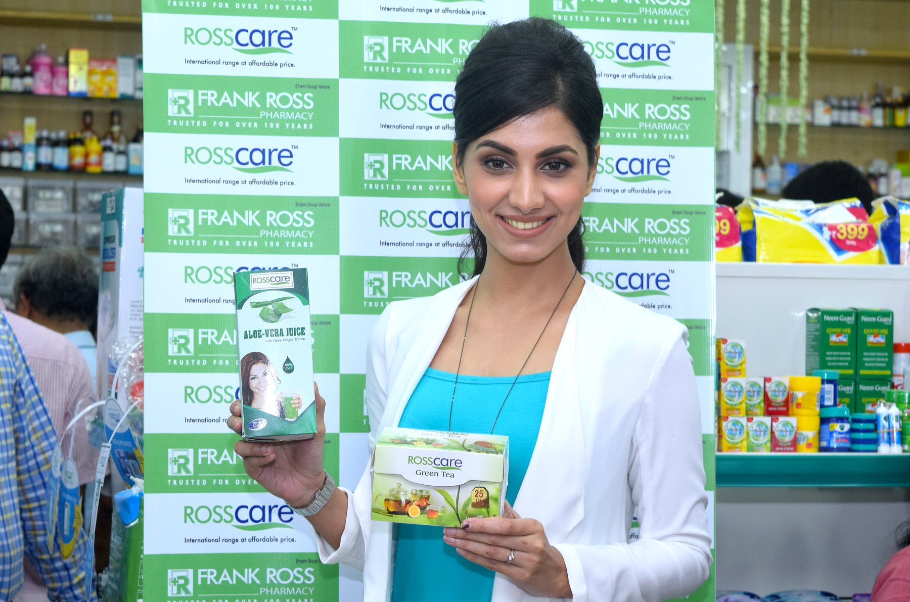 Rukmini Mitra With Rosscare Products