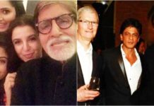 Shahrukh Khan Tim Cook Apple CEO Dinner With Big B