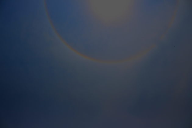 Sun Ring Or 22 Degree Halo