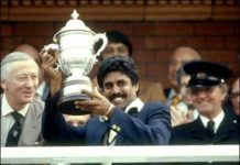 Kapil Dev With World Cup 1983