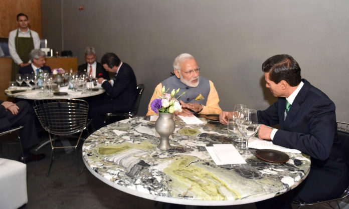 PM Modi - Mexico President Dining Out