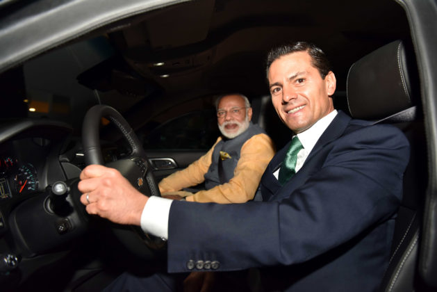 PM Modi - Mexico President Driving Car