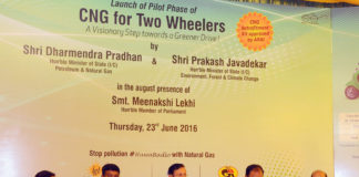 Two Weelers On CNG - India