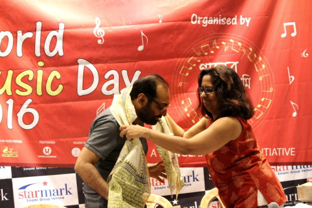 World Music Day - felicitation Anindya 2