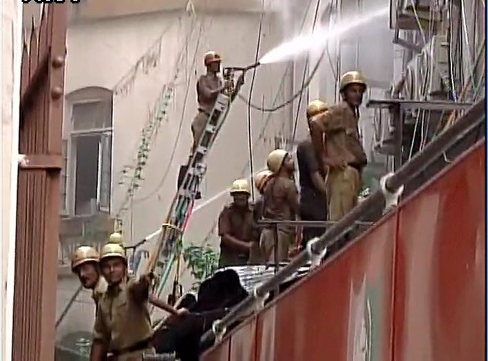 Allahabad Bank - Head Office on Fire