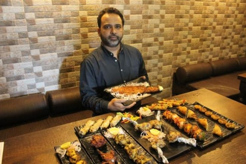 Asif Ahmed, Partner, Sanjha Chulha With His Quirky Kebabs.