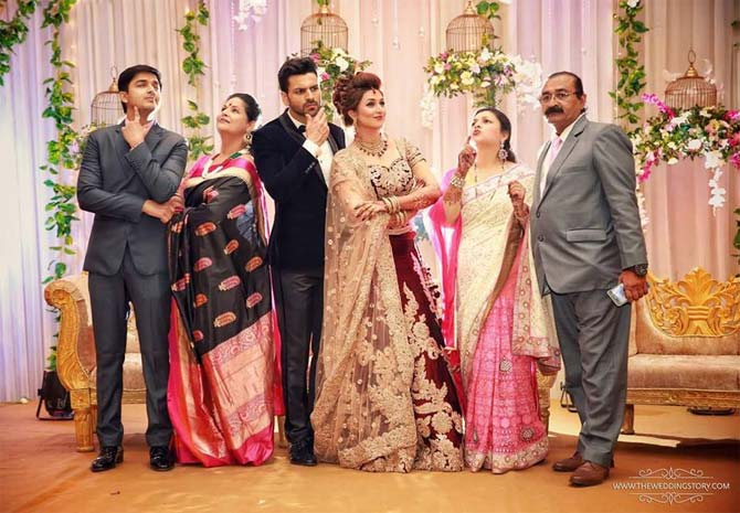 Divyanka and Vivek on their First reception