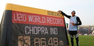 Neeraj Chopra - World Record Photo By www.athleticsweekly.com