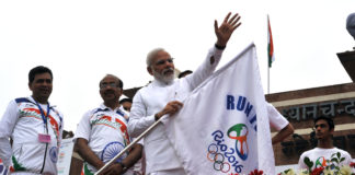 PM Modi - Rio Olympics Indian Team Sent Off