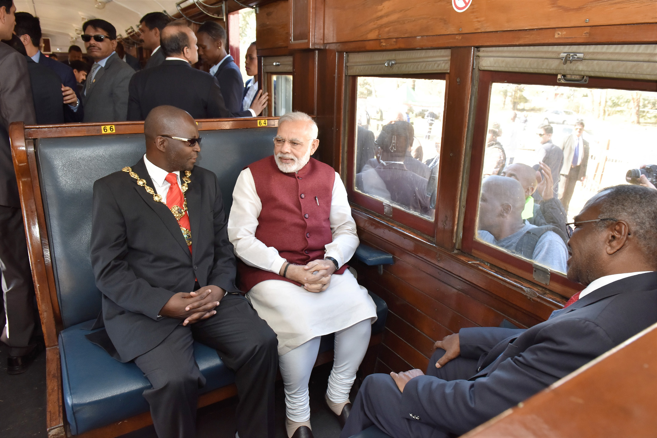 PM Modi in Gandhi Track of Railways - South Africa Train Tour