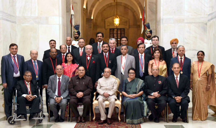 President of India - Pranab Mukherjee with BC Roy Awardee 2016