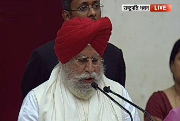 S S Ahluwalia - Oath Taking as Minister in Modi Cabinet