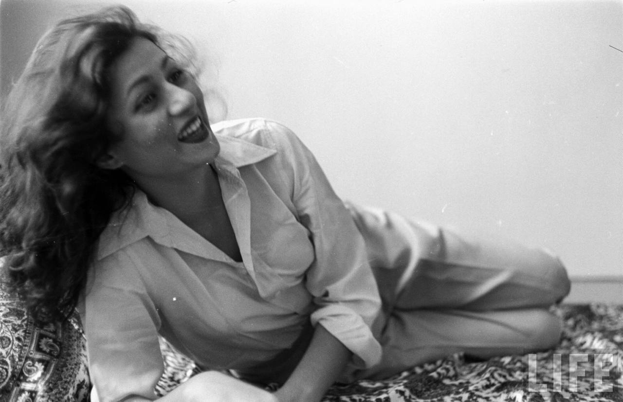 Hindi Movie Actress Madhubala in her Room- Photographed by James Burke for Life Magazine 1951