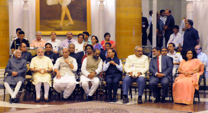 PM Modi - With Freedom Fighters