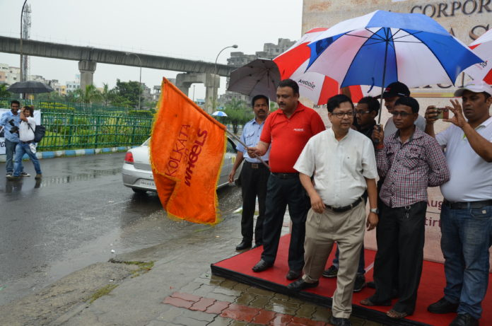 Flag Off Of 'Bridgestone Corporate Treasure Hunt'