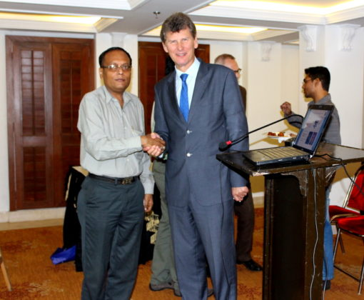 HE Iceland Ambassador T. Ibsen with Suman Munshi Chief Editor IBG NEWS