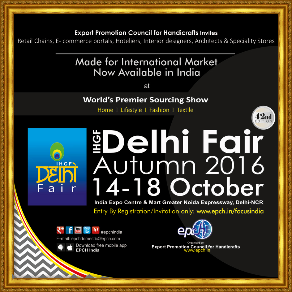 42nd Edition Of Ihgf Delhi Fair To Open On October 14 2016