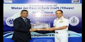 INS Tihayu joins the Indian Navy