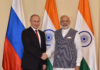 The Prime Minister, Shri Narendra Modi with the President of Russian Federation, Mr. Vladimir Putin