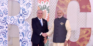President Michel Temer of Brazil with PM Modi