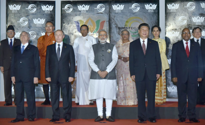 Leaders of BRICS and BIMSTEC, in Goa