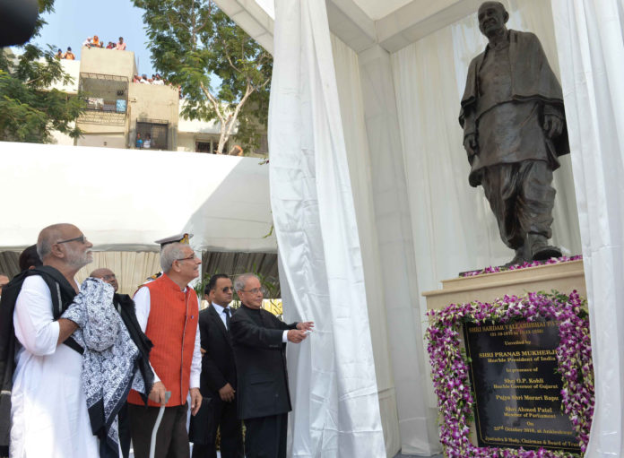 Pranab Mukherjee inaugurating the Sardar Vallabhbhai Patel Heart Institute, at Ankleshwar, Gujarat