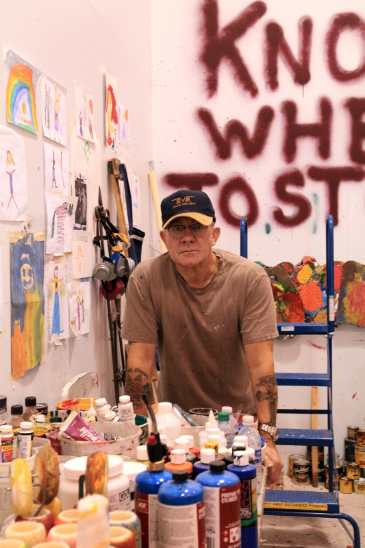 Bernie Taupin in his art studio