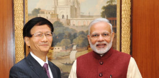 Mr. Meng Jianzhu calls on the Prime Minister, Shri Narendra Modi
