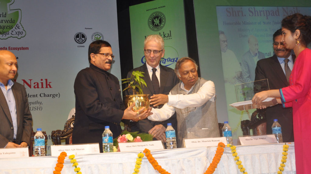 The Minister of State for AYUSH (Independent Charge), Shri Shripad Yesso Naik at the inauguration of the 7th World Ayurveda Congress and Arogya Expo, at Kolkata on December 01, 2016.