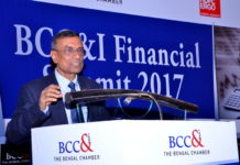 Mr. C S Ghosh (President Designate , The Bengal Chamber of Commerce and Industry and MD & CEO, Bandhan Bank Ltd.) delivering his keynote speech.