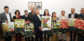 The Minister of State for Development of North Eastern Region (I/C), Prime Minister's Office, Personnel, Public Grievances & Pensions, Atomic Energy and Space, Dr. Jitendra Singh releasing the 2017 Calendar of the North Eastern Council, in New Delhi on January 06, 2017. The senior officers of the Ministry of DoNER and NEC are also seen.