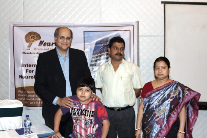 Stem Cell Therapy in India - Dr. Alok Sharma with Master Pratyay and his parents