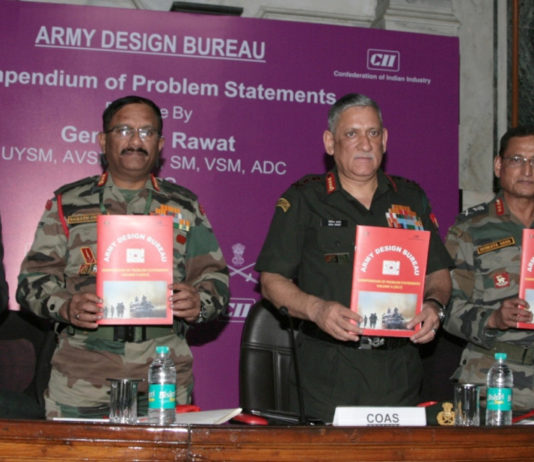 he Chief of Army Staff, General Bipin Rawat releasing the 'Compendium of Problem Statements Vol II', in New Delhi on March 24, 2017.