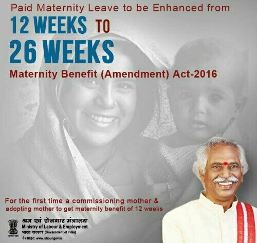 maternity benefits amendment bill 2016