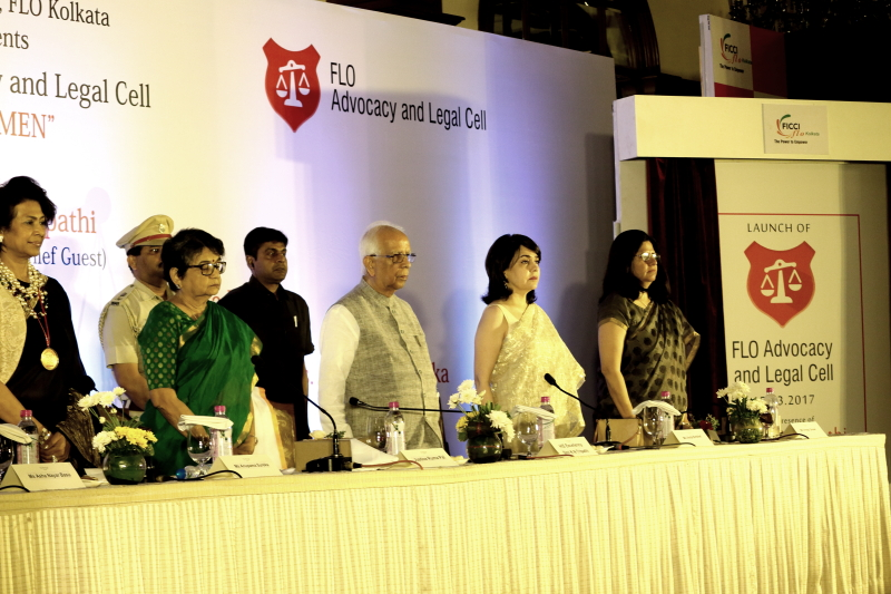 Anupama Sureka (Left)- FICCI FLO Event with HE K N Tripathy Governor West Bengal