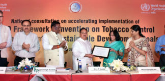 Award Ceremony - global tobacco control by the World Health Organisation