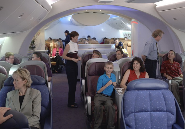 Boeing 787 Dreamliner Interior View - IBG News