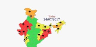 India Severe Weather Warning 24th to 28th July2017