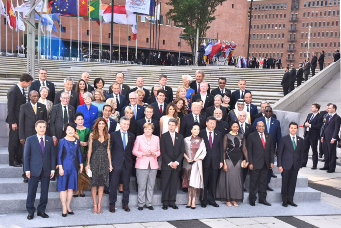 The Prime Minister, Shri Narendra Modi in the Family Photograph with other Leaders' of G-20 Nations, at Hamburg, Germany on July 07, 2017.