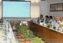 "The Union Minister for Railways, Shri Suresh Prabhakar Prabhu addressing the Round Table Conference on ""Ensuring Cyber Security on Indian Railways"", in New Delhi on July 21, 2017. The Chairman, Railway Board, Shri A.K. Mital and other dignitaries are also seen."