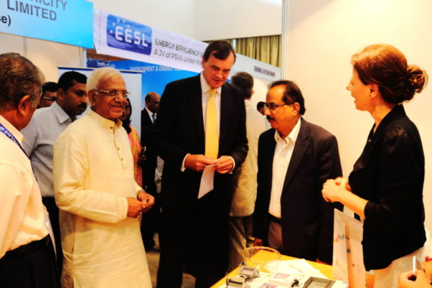 Lucia De Francesco With British High Commissioner to India & Power Minister of West Bengal Mr. Sovandev Chattopadhay - Italy