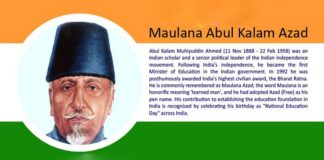 Maulana Abul Kalam Azad - Indian Freedom Fighter
