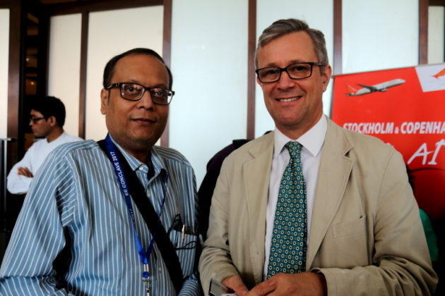 Suman Munsh Chief Editor IBG NEWSi with British Deputy High Commissioner at Kolkata in India Mr.Bucknell