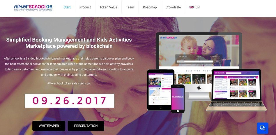 Afterschool sets to disrupt the after-school booking industry as it launches its Initial Coin Offering (ICO) on September 26