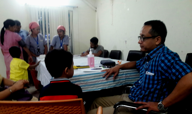 Paediatric camp concluded at press club