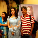 Hema Malini with Benoy Sen Editor Sangbad Jabotiya - Kolkata Press Meet Pic 15