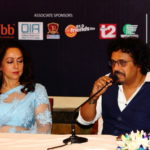Hema Malini with Pandit Bikram Ghosh - Kolkata Press Meet